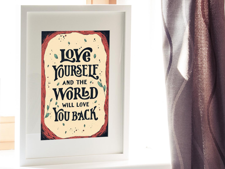 Love yourself mock
