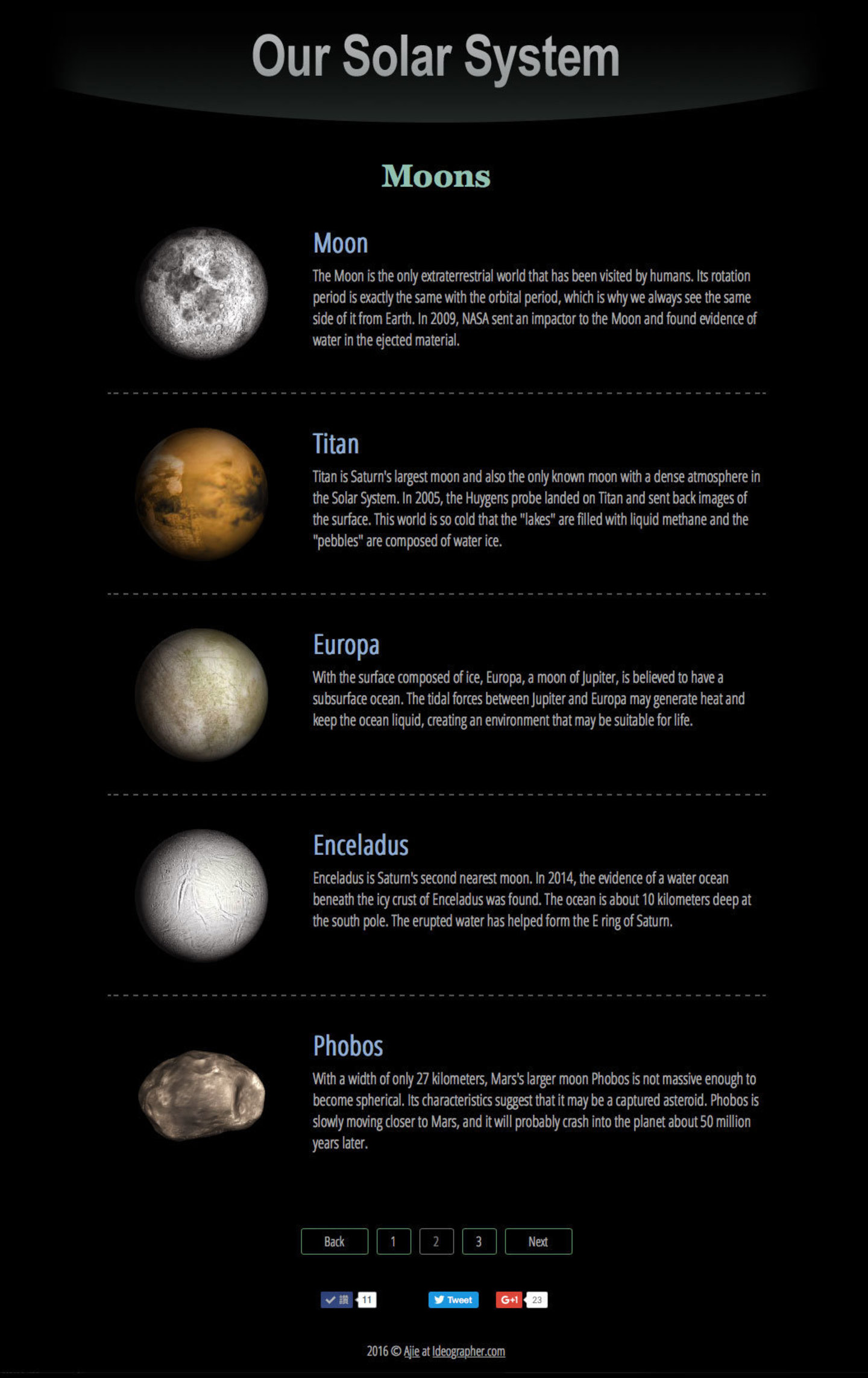 3d Solar System Web - office-center info