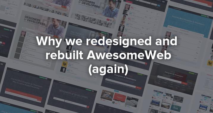 Redesigning awesomeweb